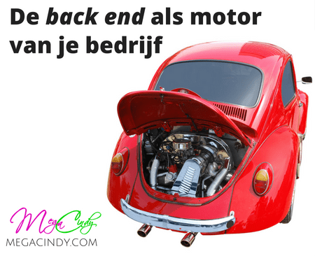 De back end fungeert als motor
